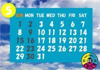 2016カレンダー  5月